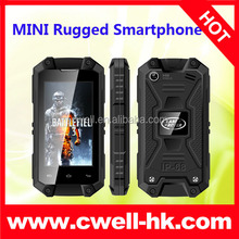IP54 Waterproof Smartphone MTK6572W Dual Core 2.4 Inch MINI J5 Very Small Size telephone with sim card