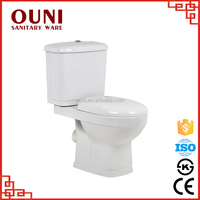 ON-219 Promotional water saving italian siphonic two piece ceramic bidet toilet