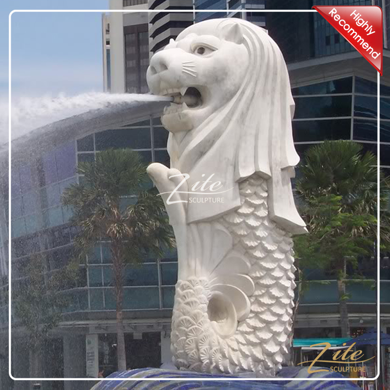 Best Replica Hand Carved Famous Singapore Stone Merlion Sculpture