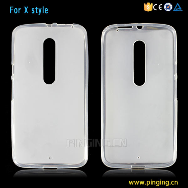 Wholesale white soft frosted tpu back cover for moto x style case