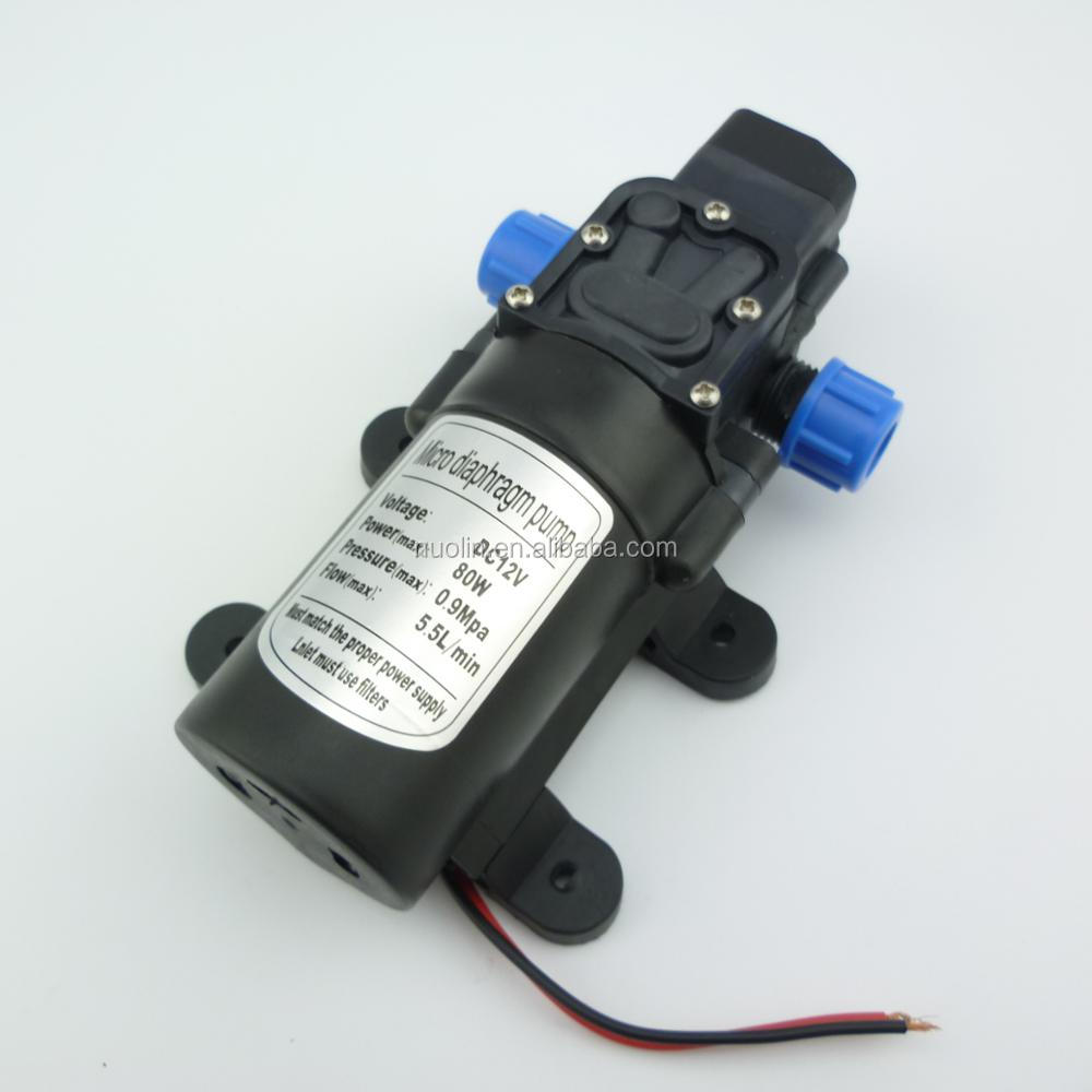 Automatic pressure switch control 80w 5.5L/min mini electric high pressure water <strong>pump</strong> 12v dc self priming