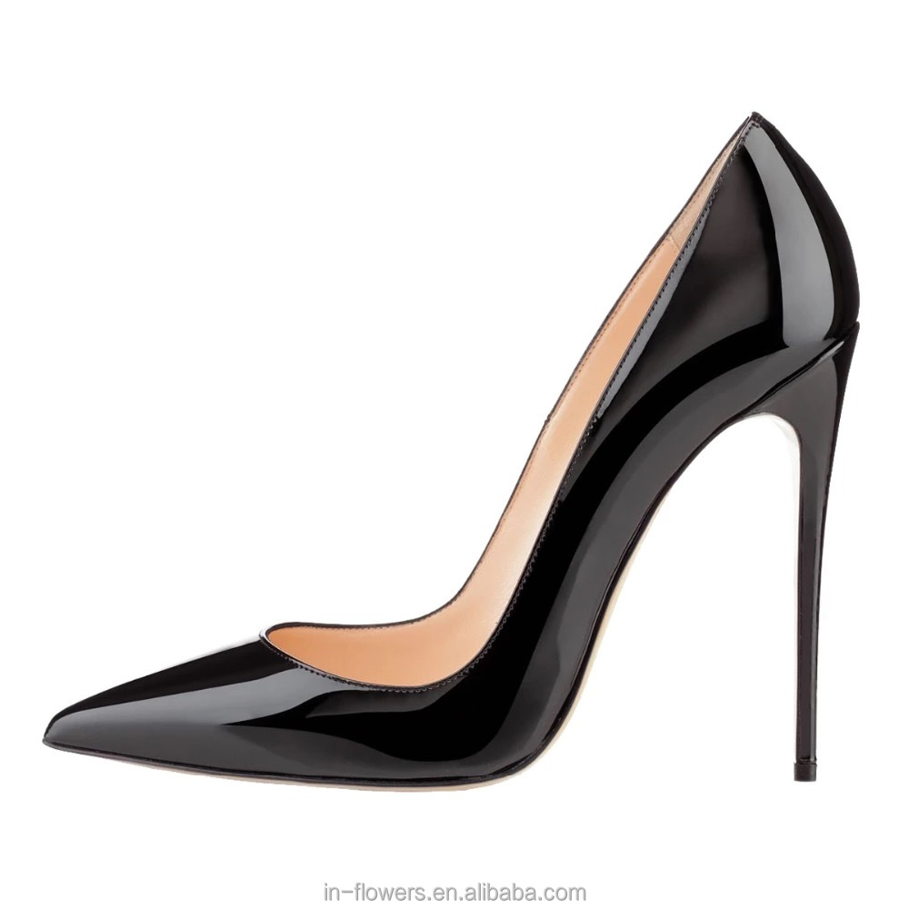 Classical design handmade genuine leather women pumps with 11.5cm slim <strong>heel</strong>