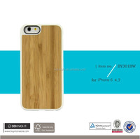Optional Wood Bamboo Blank Hard Phone Cover DIY Custom for iPhone 6s Case, High Quality TPU Bamboo Case for iPhone 6s