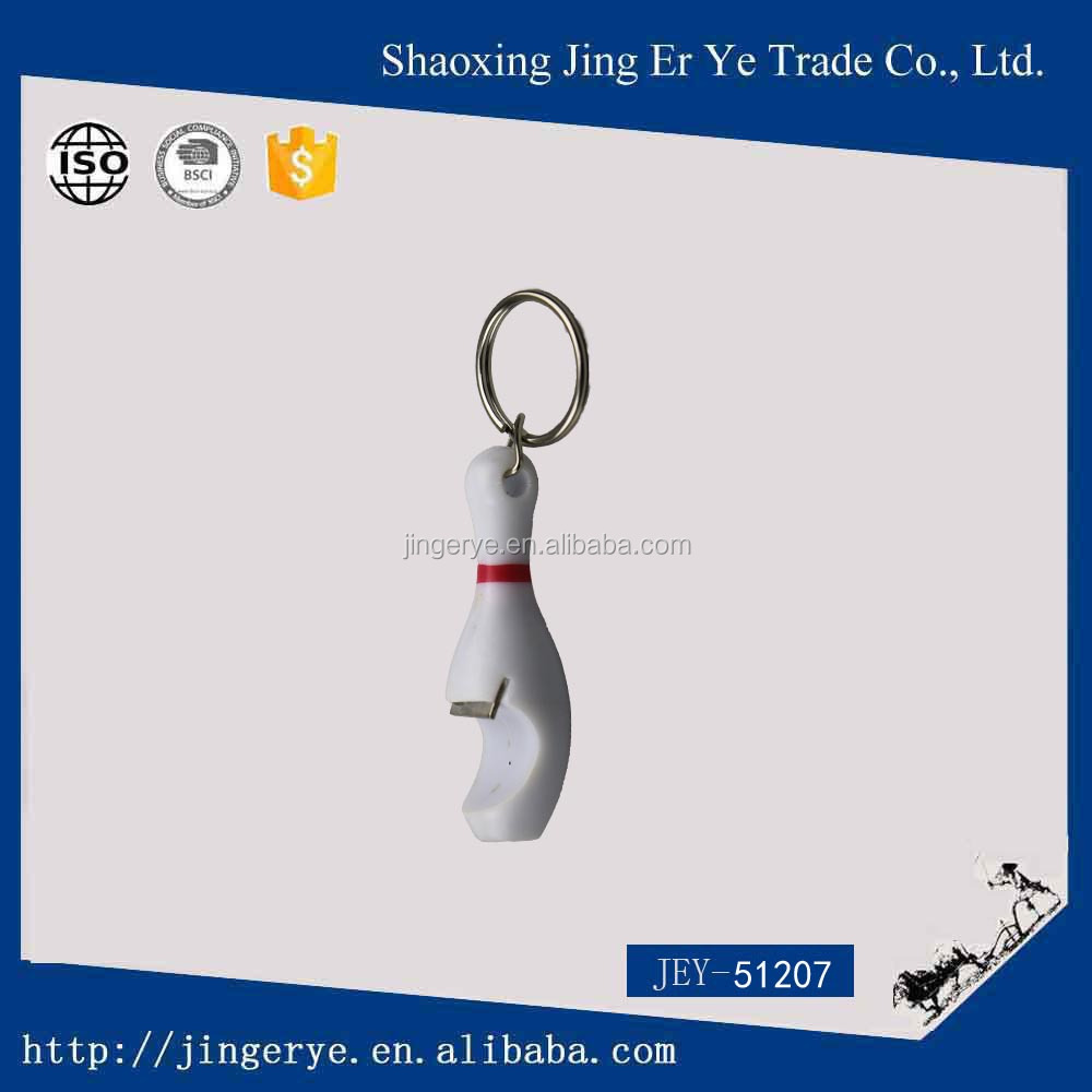 promotional gift opener bowling ball pin bottle opener Keychain