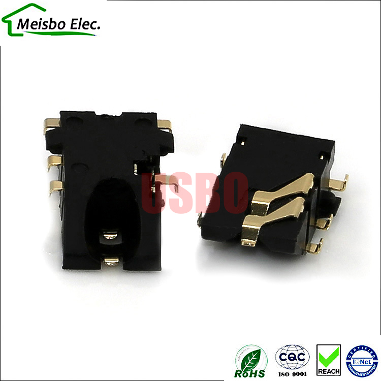 Gold - plated sink board 3.5mm headphone jack socket mother - cell phone 3.5 audio and video headless JACK