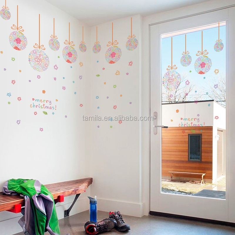 custom design Christmas removable home decorative wall sticker