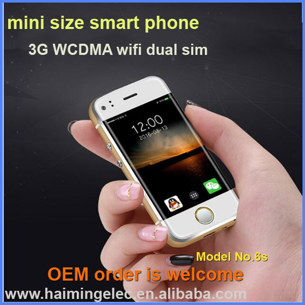 global super mini smart phone 2.4 inch android 5.1 for kids use model 6S