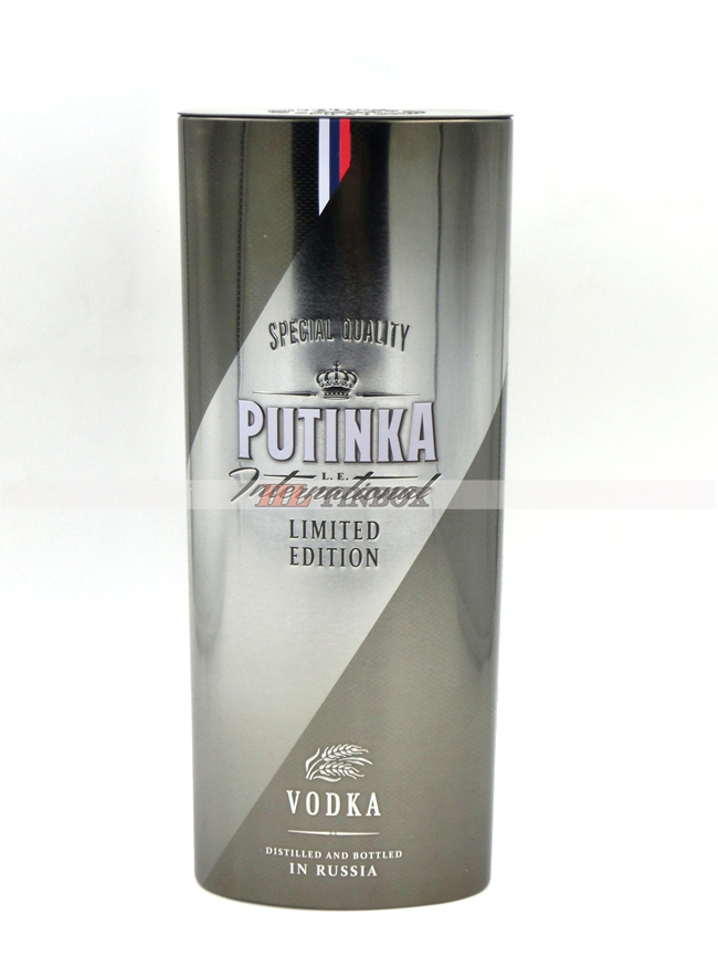 Putinka Russian Vodka Alcohol Metal Package Tin Box