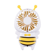 2018 Bee Shape Mini Handheld Portable Fan USB Rechargeable Fan with Led Light