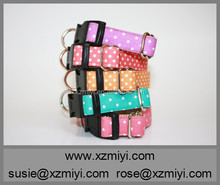 New Arrival Wholesale Various Polka Dots Pet Dog Flashing Collar With Bow