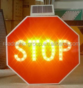 RSG best quality high reflective solar traffic sign/aluminum road sign