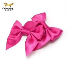 50% off large stock pre made pink satin ribbon bow for sale