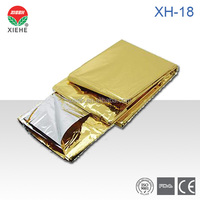 Waterproof foil silver mylar thermall rescue emergency blanket XH-18