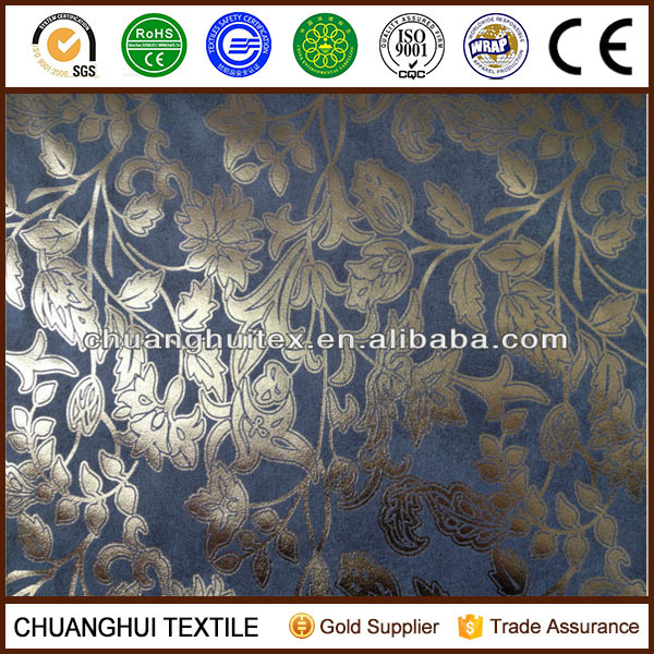 woven bronzed suede blackout fabric for curtain