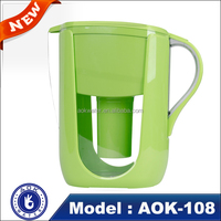 Wholesales CE ,ROHS Certification portable drinking water filter jug /pitcher/cup/kettle for health