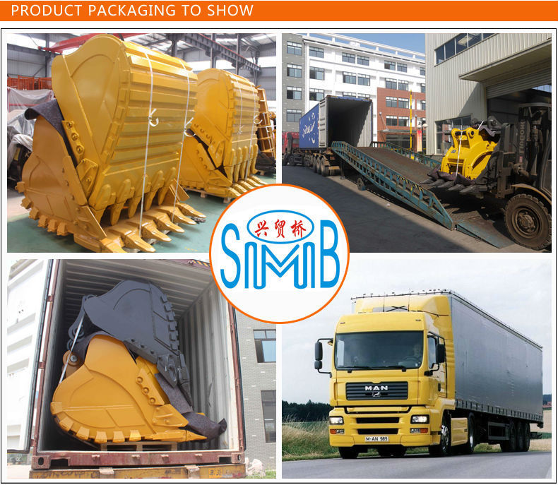 Shanghai SMB manufacturer wholesale price excavator spare parts heavy duty stone crusher bucket