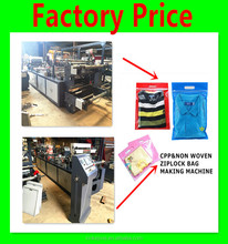 Factory Price Zipper Closure Nonwoven Bag Making Machine