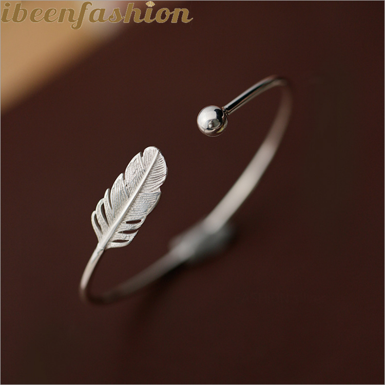 Open Feather Small Bead Bracelet Female Korean All-match Love Bracelet