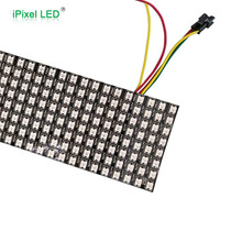 Black pcb led matrix light,addressable full color ws2812 led flexible panel