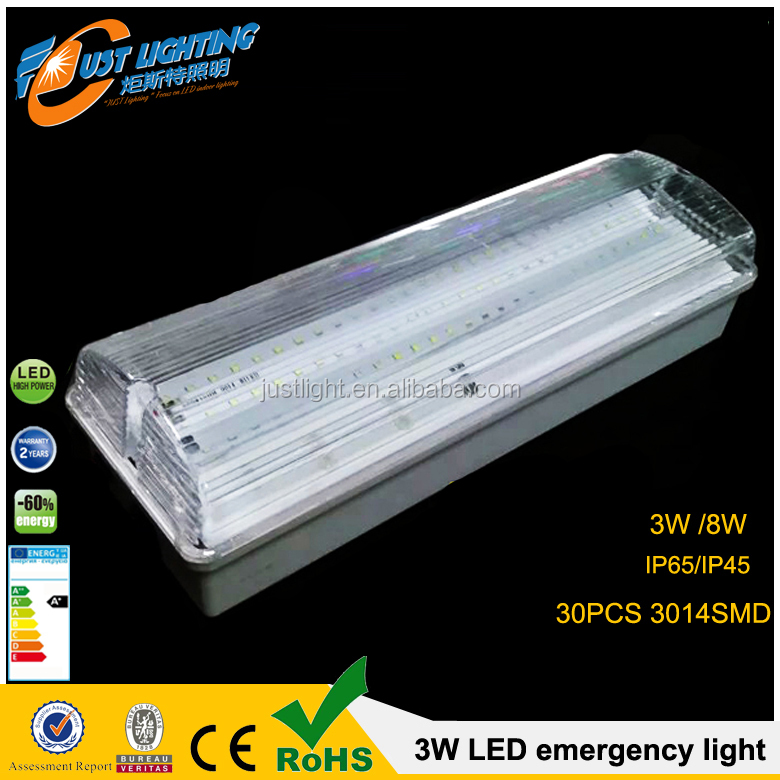 IP65 30SMD 3w Led Industrial Emergency Bulkhead Light With CE ROHS