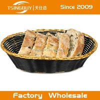 Handcraft customized 100% Natural wicker/rattan Panera Bread display basket