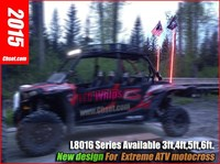 Chset UTV atv led lighted whip buggy flag for Cross-country