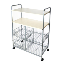 Metal movable 4 tier kitchen carts and islands
