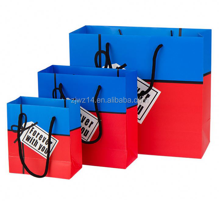 2015 fashion baby's paper gift bags/ carrier shopping bag/ new design christmas paper bag
