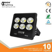Home garden ultra slim portable outdoor led floodlight 200w 300w cob led waterproof flood light