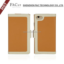 2018 Shenzhen F&C perfect fit side-opening exquisite pu leather sleeve cover credit card phone case for iphone 7
