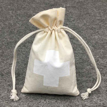 Fashion Reusable Cotton Gym Carry Promotional Bag With Drawstring