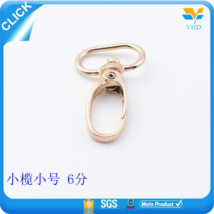 Manufacture cheap zinc alloy bag accessories metal dog leash snap hook