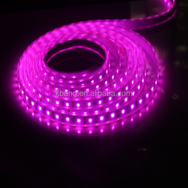 led tape strip light 5050 pink color customized factory