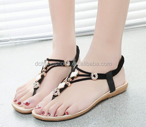 2018 New wholesale fashion low heel factory women shoes sandals