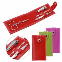 High Quality Nail Clippers Scissors File Tweezers PVC Bag Case Mini Nail Manicure Tool Set High Quality