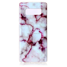 Aquamarine and gold Marble Design Slim Shockproof Flexible Soft Silicone Rubber TPU Bumper Cover Skin Case for Samsung Note 8