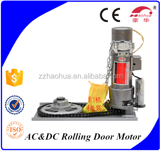 DC univers remote control rolling shutter gate opener motor supplier