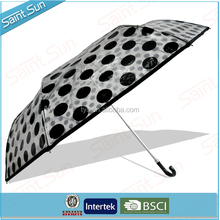 Cheap Price 3 Fold Print POE Recycled Material Umbrella