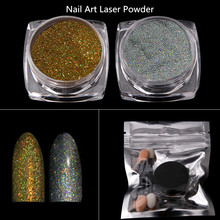 2017 Fashion Nail Glitter Chrome Pigment Manicure DIY Dust Holographic Laser Powder
