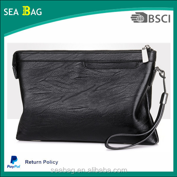 Men 's large - capacity envelopes Bag ,soft leather business Clutch