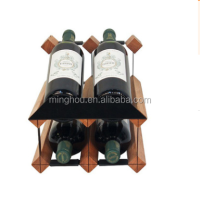 cheap wine rack wholesale unique shapes 4 bottles timber wine stands for sale