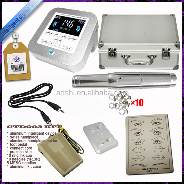 Professional Intelligent digital permanent make up machine kit for eyebrow