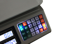 patent acs electronic price weighing scale with keypad light
