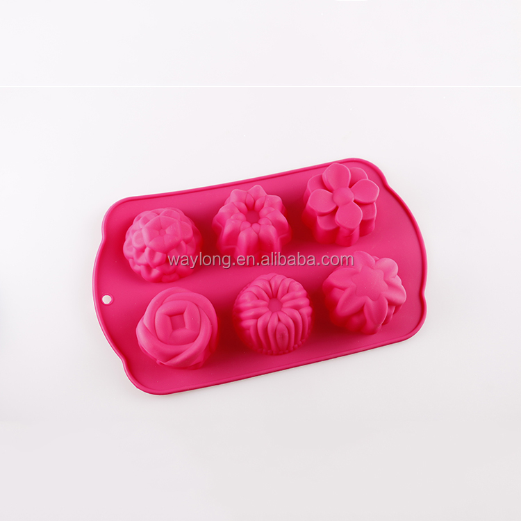 Newest design top quality silicone jumbo cake mold and mini cake moulds for christmas