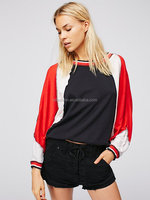 Outside black sports leisure casual wear cotton blouses