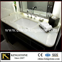 hot sale natural well polished white onyx vanity top