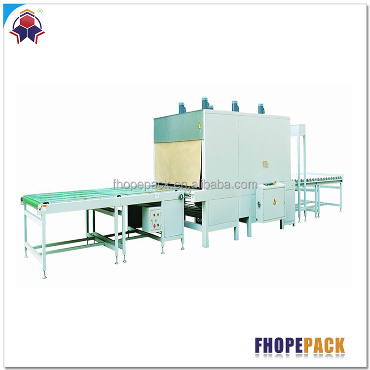 Low price durable cut and wrap machine with shrink tunnel