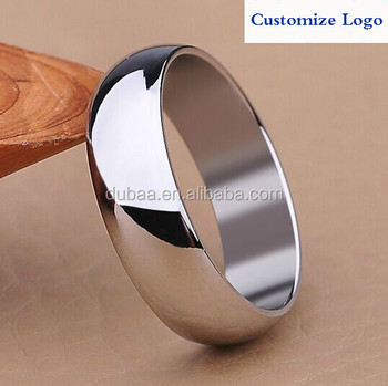 Jewelry Stainless Steel Mens Wedding Band Ring Polish Charm Customize Logo