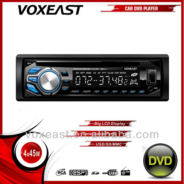 new single din car cd dvd player with Sub-out