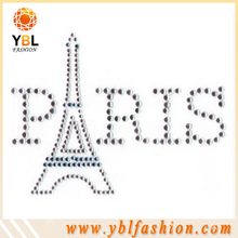 Paris desian hot fix rhinestone transfer motif templates